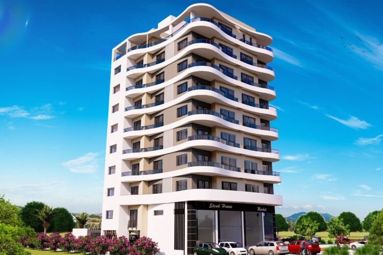 Perfect apartment 2+1 in the center of Yeni Boğaziç, with panoramic views of the city and the sea