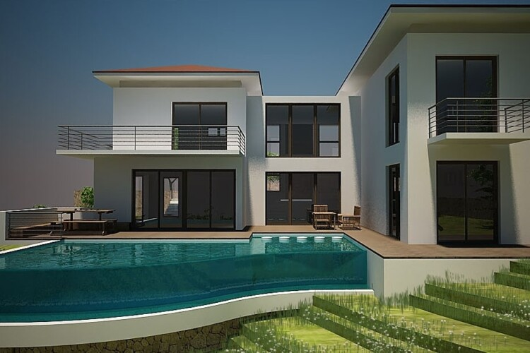 New duplex villa with 5-bedrooms and a spacious green area
