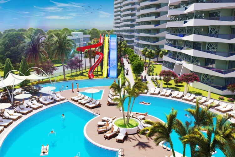 2+1 apartment in an incredible project, located in the exclusive tourist area of Long Beach