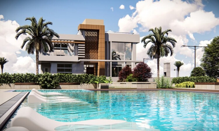 Modern two-story villa 3+1 with terraces