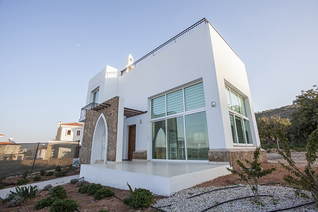 Superb two-story villa 3+1 with a spacious terraces, in the charming village of Karşıyaka