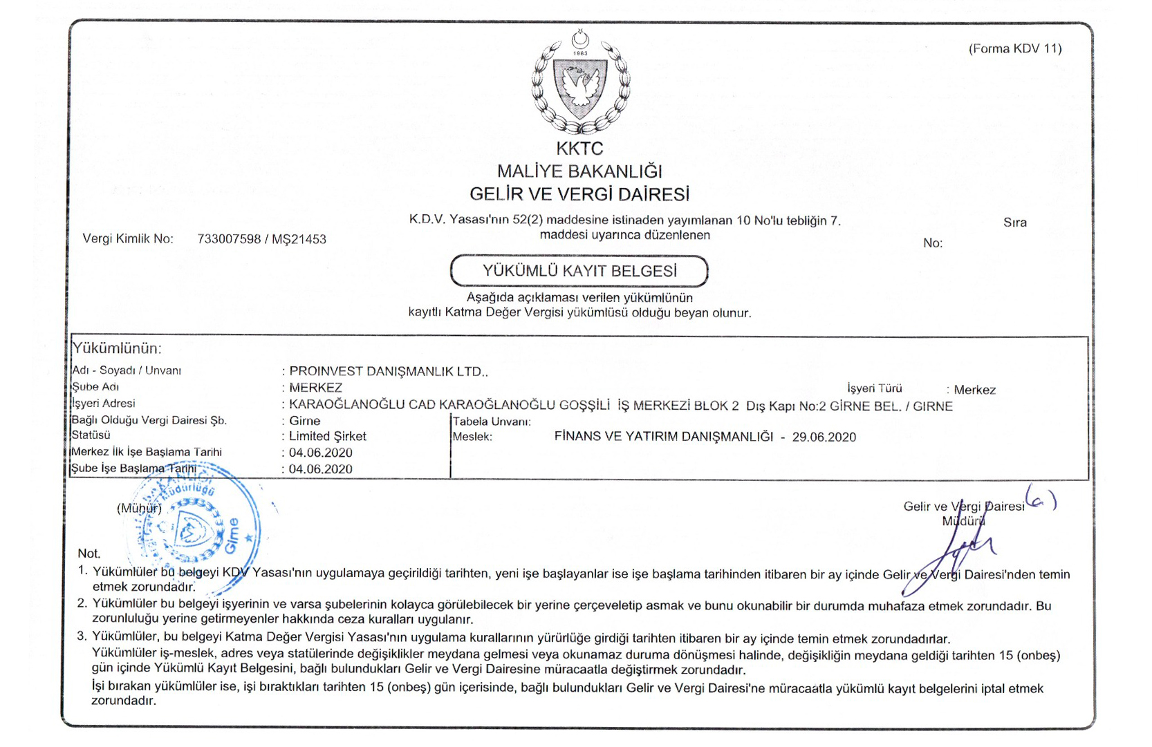 Sertificate Prime Pro Investment