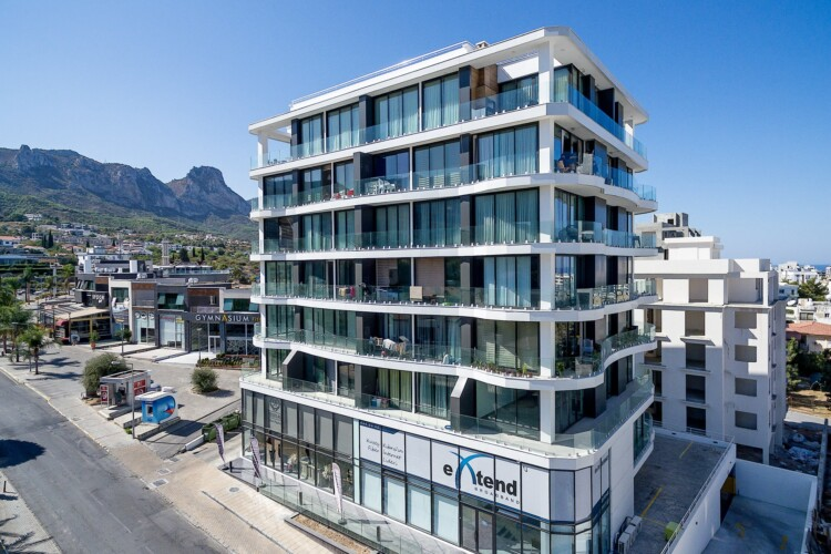 Luxury 1+1 apartment with large terrace, in the central part of Kyrenia