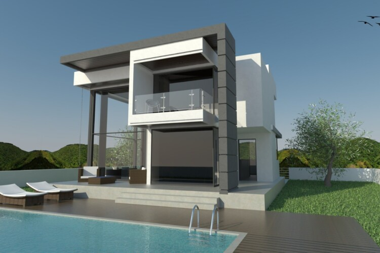 Fabulous two-story villa 3+1 with a garden of 400 m2, in the city of Alsancak