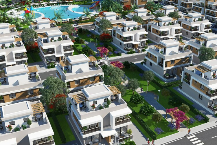 New 1+1 apartment in an elite residential complex in the resort area of Iskele