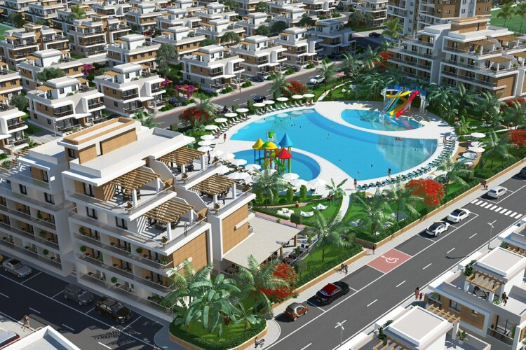 New studio 0+1 apartment in an elite residential complex in the resort area of Iskele