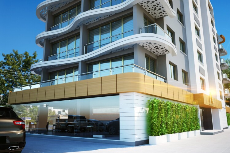 New apartment 1+1 with a balcony in the center of Kyrenia