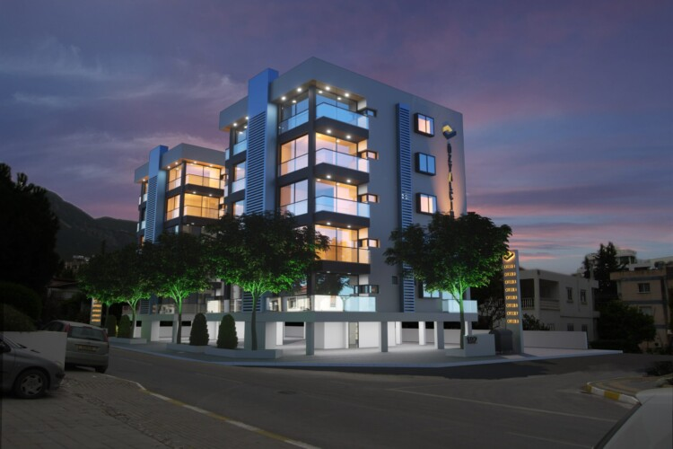 New modern 2+1 apartments in the heart of Kyrenia