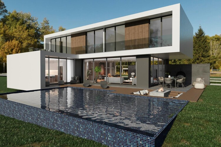 New two-story villa 3+1 with private pool in the wonderful area of Yeni Boğaziçi