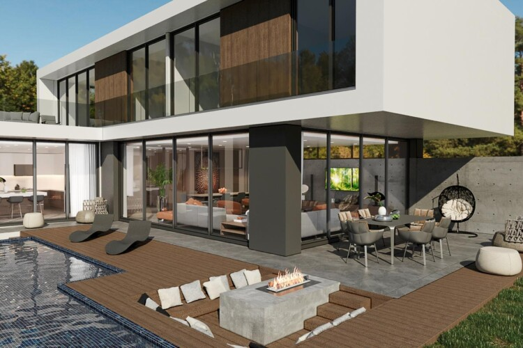 New two-story villa 4+1 with private pool in the wonderful area of Yeni Boğaziçi