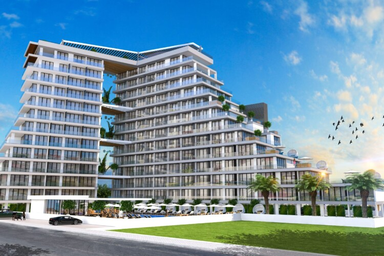 2+1 apartment in a new modern residential complex just 300 meters from the sea