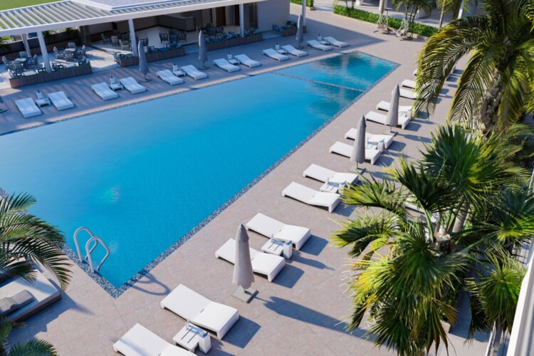 4+1 apartment in a new modern residential complex just 300 meters from the sea