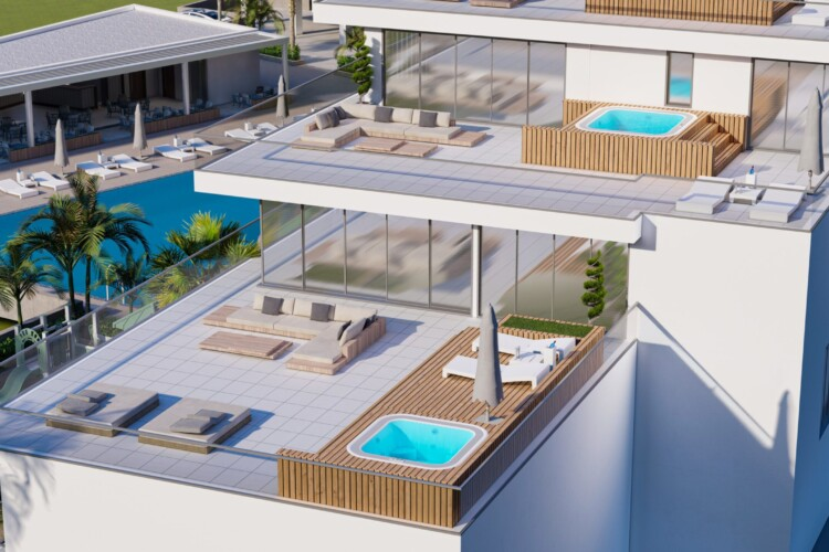3+1 apartment in a new modern residential complex just 300 meters from the sea