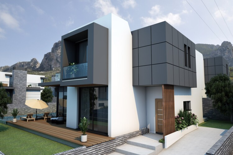 Beautiful two-story villa 3+1 surrounded by mountains and nature of Northern Cyprus