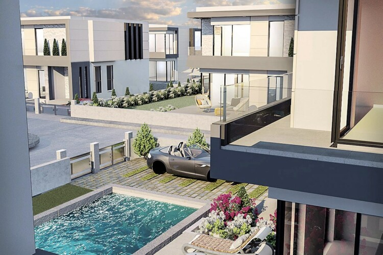New exclusive project of two-story villas 3+1 in Alsancak