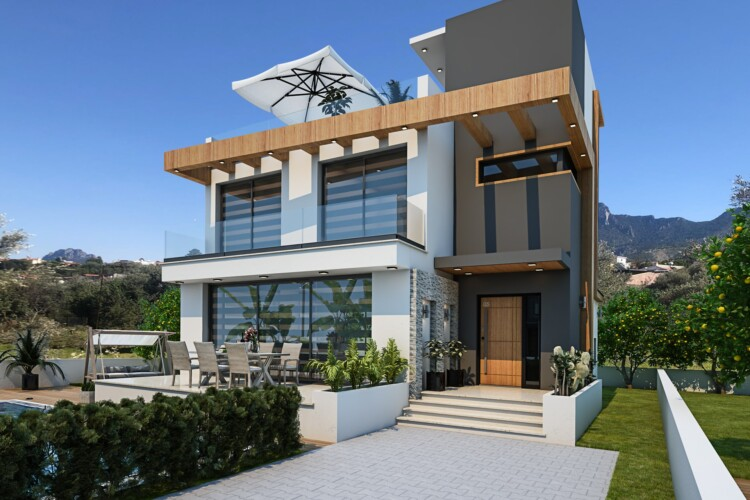 Incredible 3+1 two-storey villa with private pool in Catalkoy area